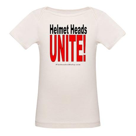 Helmet Heads Unite! Organic Baby T-Shirt