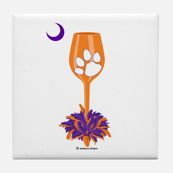 Tipsy Tiger (Orange) Tile Coaster