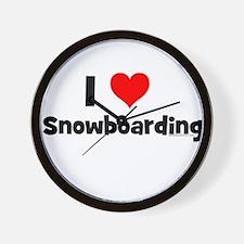 Cool Snowboarding baby Wall Clock