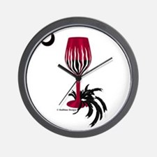 Garnet & Black Wino Wall Clock