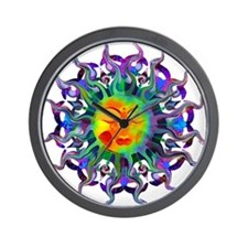 Chakra Sun Wall Clock