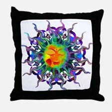 Chakra Sun Throw Pillow