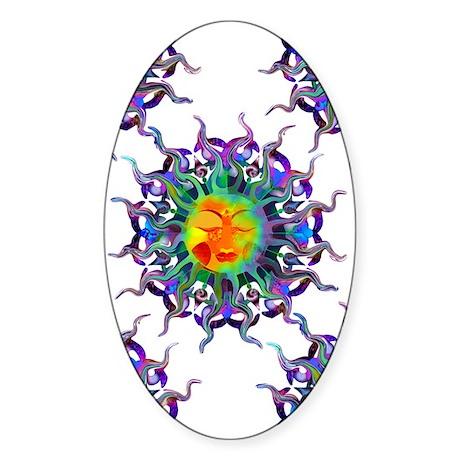 Chakra Sun Oval Sticker