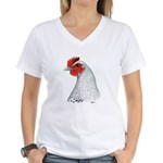 Egyptian Fayoumi Hen Women's V-Neck T-Shirt