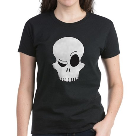 Eyebrow Skull Women's Dark T-Shirt