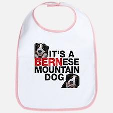 It's a BERNese Mountain Dog Bib