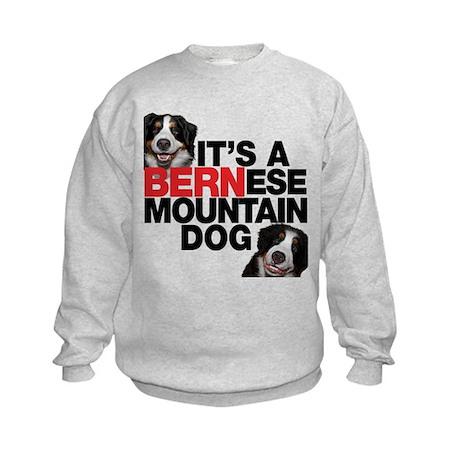 It's a BERNese Mountain Dog Kids Sweatshirt