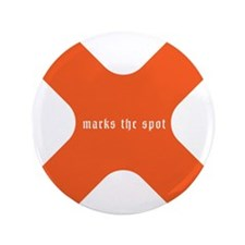 """X marks the spot 3.5"""" Button"""