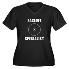 Faceoff Specialist Women's Plus Size V-Neck Dark T