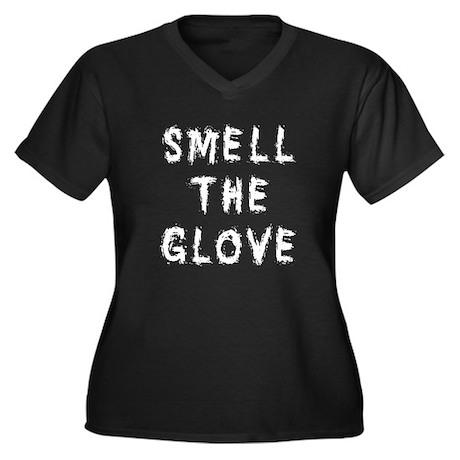 Smell the Glove Women's Plus Size V-Neck Dark T-Sh