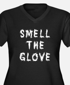 Smell the Glove Women's Plus Size V-Neck Dark T-Sh