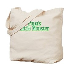 Papa's Little Monster's Tote Bag