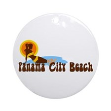 Panama City Beach FL Ornament (Round)
