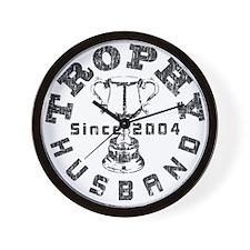 Trophy Husband Since 2004 Wall Clock