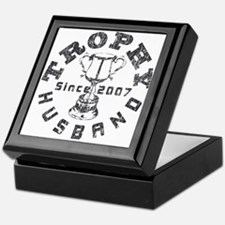 Trophy Husband Since 2007 Keepsake Box
