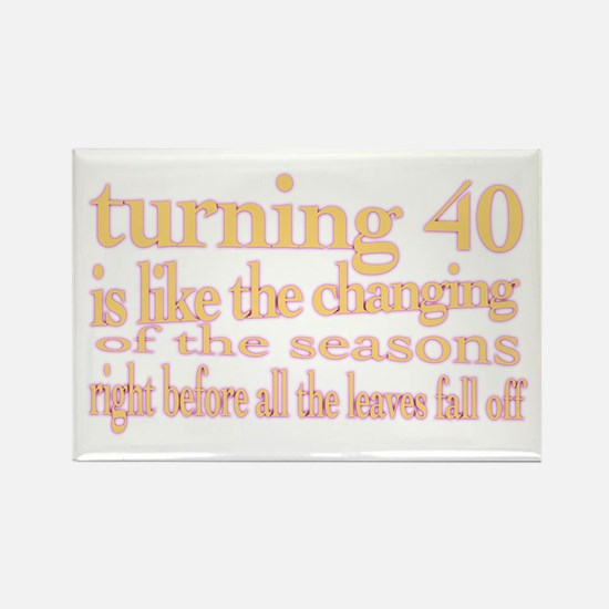 Cute Turning 40 Rectangle Magnet