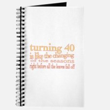 Funny Fortieth birthday Journal