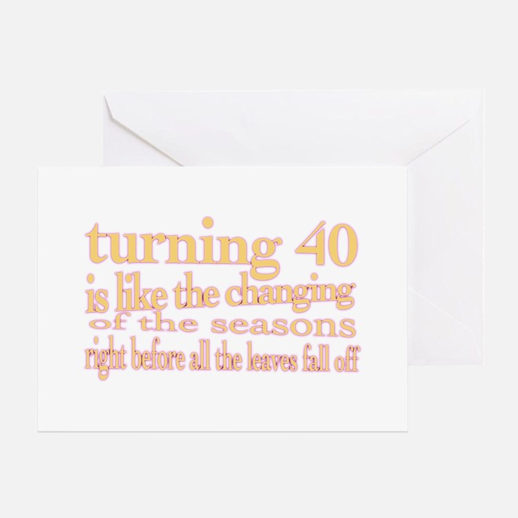 Cute Turning 40 birthday Greeting Card