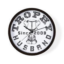 Trophy Husband Since 2008 Wall Clock