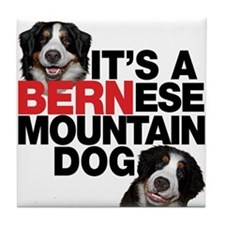 It's a BERNese Mountain Dog Tile Coaster