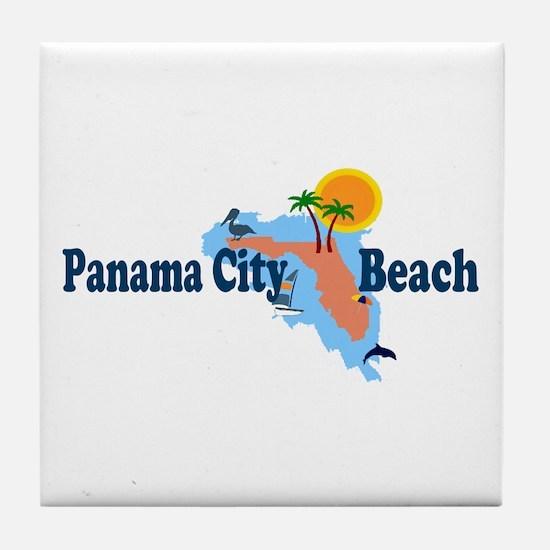Panama City Beach FL Tile Coaster