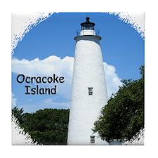 Ocracoke Lighthouse Tile Coaster