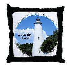 Ocracoke Lighthouse Throw Pillow