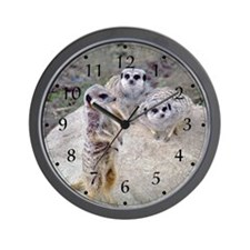 Meerkats 1&2 Wall Clock
