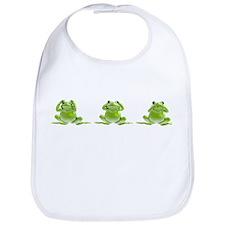 3 Frogs! Bib