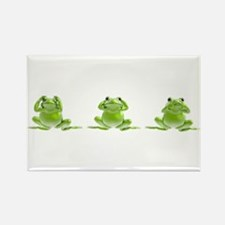 3 Frogs! Rectangle Magnet