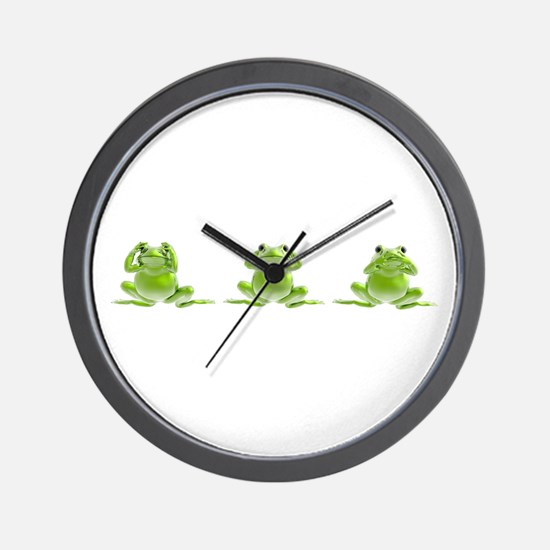 3 Frogs! Wall Clock