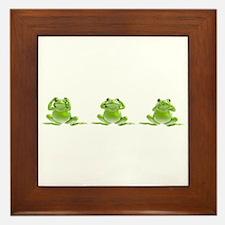 3 Frogs! Framed Tile