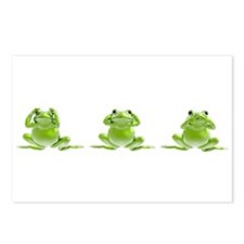 3 Frogs! Postcards (Package of 8)