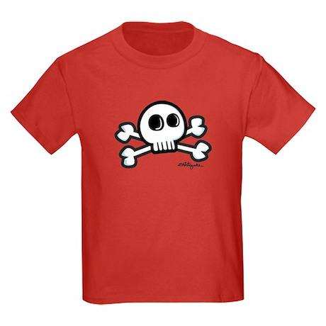 Cartoonish Jolly Roger Kids Dark T-Shirt