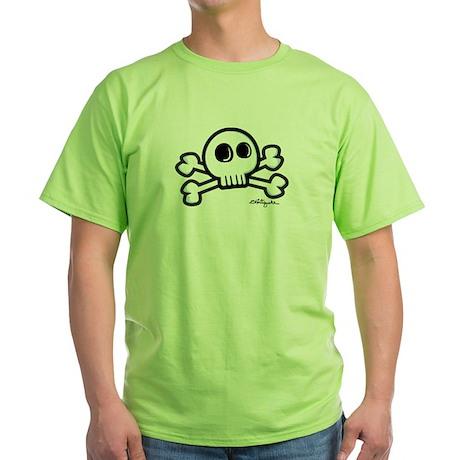 Cartoonish Jolly Roger Green T-Shirt