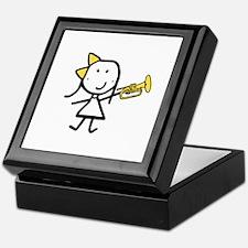 Girl & Mellophone Keepsake Box