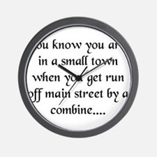 Small Towns and Tractors! Wall Clock