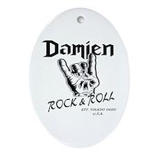 Cute Damien Oval Ornament