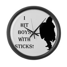 Fun For Female Fighters! Large Wall Clock