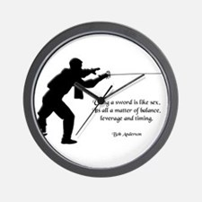 Fencing Style 4 Wall Clock