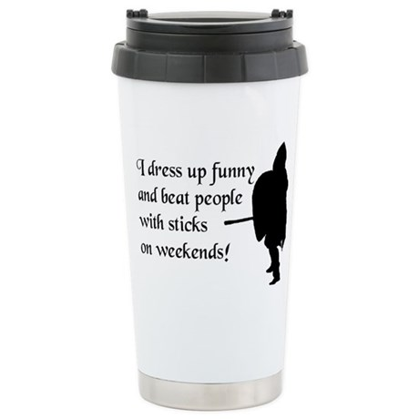 Weekend Warrior Stainless Steel Travel Mug