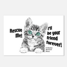 Rescue Me! Cute Kitten 8-Pack Postcards