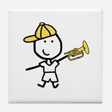 Boy & Mellophone Tile Coaster