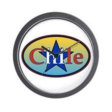 Chile Star 2 Wall Clock