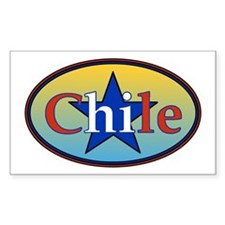 Chile Star 2 Rectangle Decal