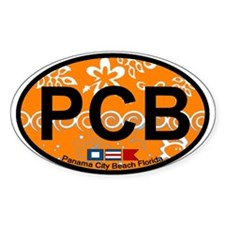 Panama City Beach FL Oval Decal