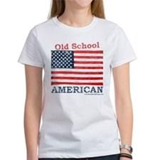 Old School American Women's White T-Shirt