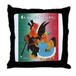 El Gallo Atractivo Throw Pillow