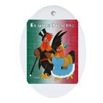 El Gallo Atractivo Oval Ornament