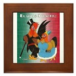 El Gallo Atractivo Framed Tile